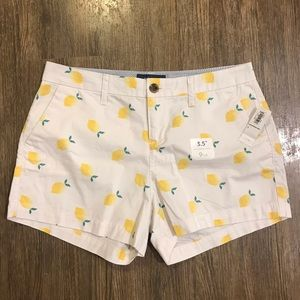 NWT Old Navy Lemon Print Shorts